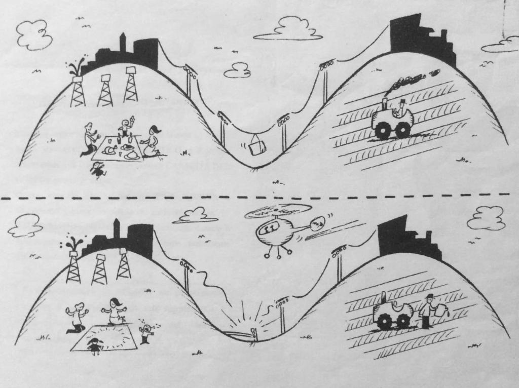 Fumetto che rappresenta in breve la storia di Vallefelice e Colle Fiorito